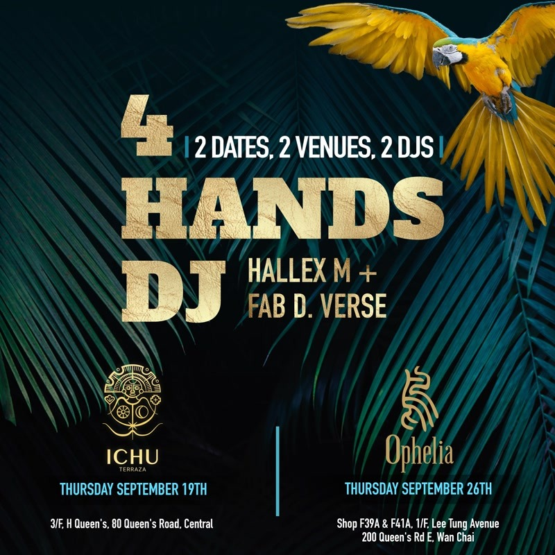 ICHU Restaurant & Bar | Events | 4 Hands DJ with Ophelia