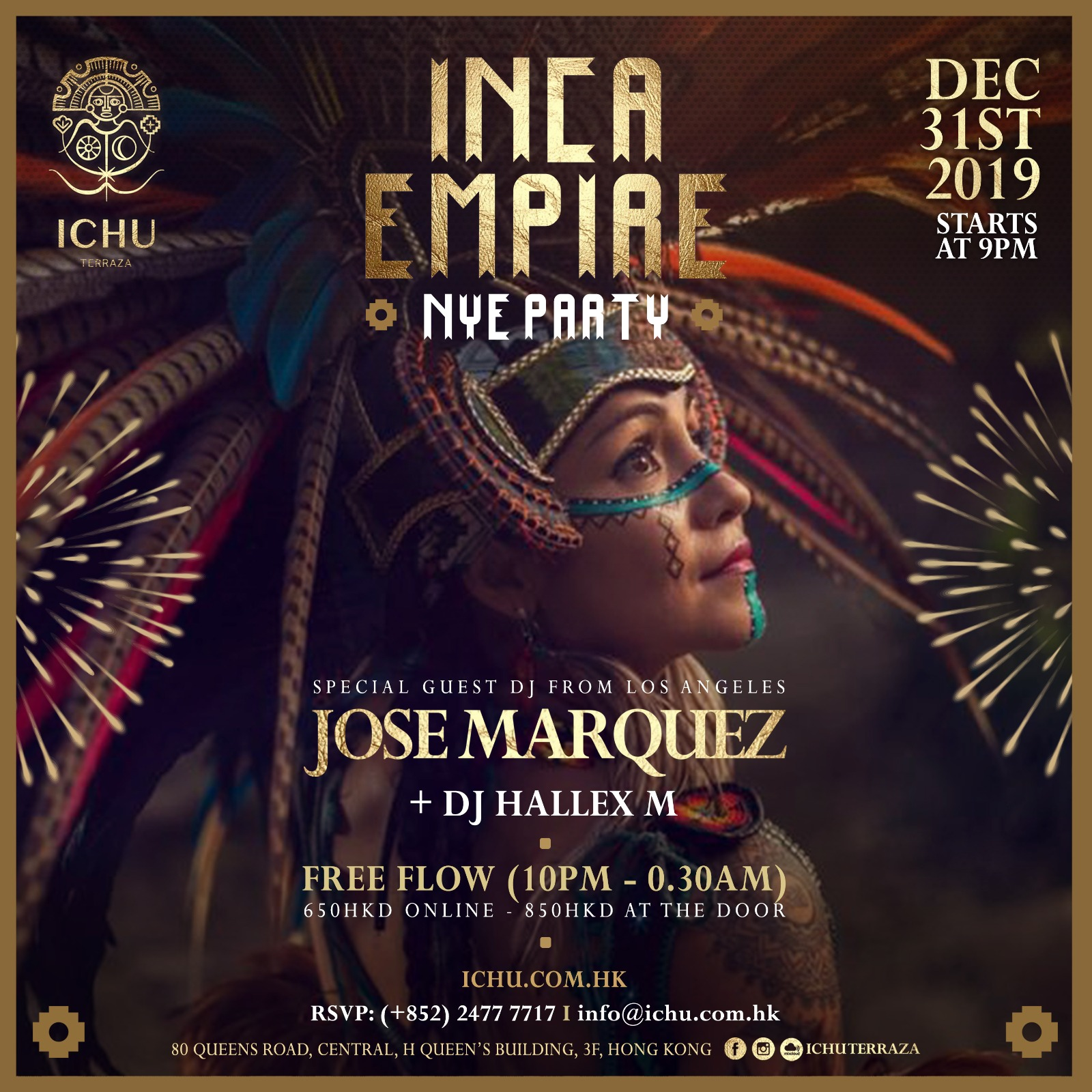 ICHU Restaurant & Bar | Events | Inca Empire NYE Party