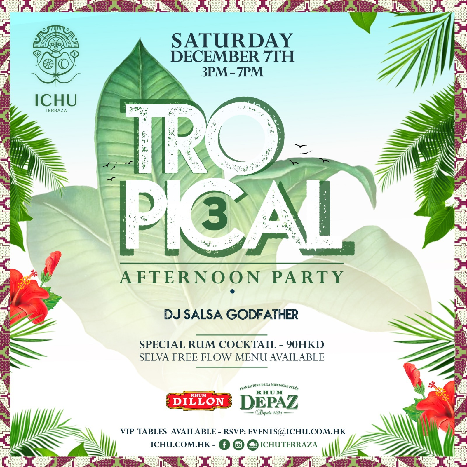 ICHU Restaurant & Bar | Events | Tropical Afternoon Party 3