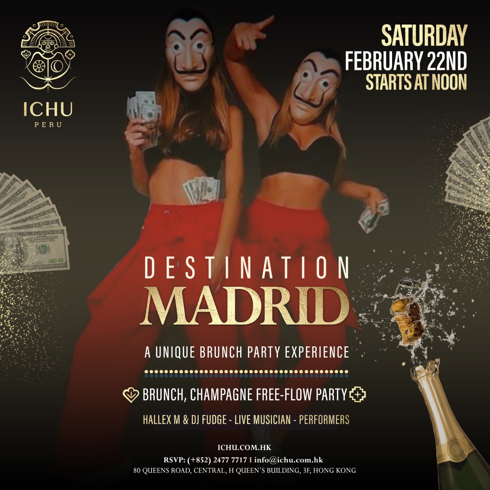 ICHU Restaurant & Bar | Events | Destination Madrid – Brunch Party