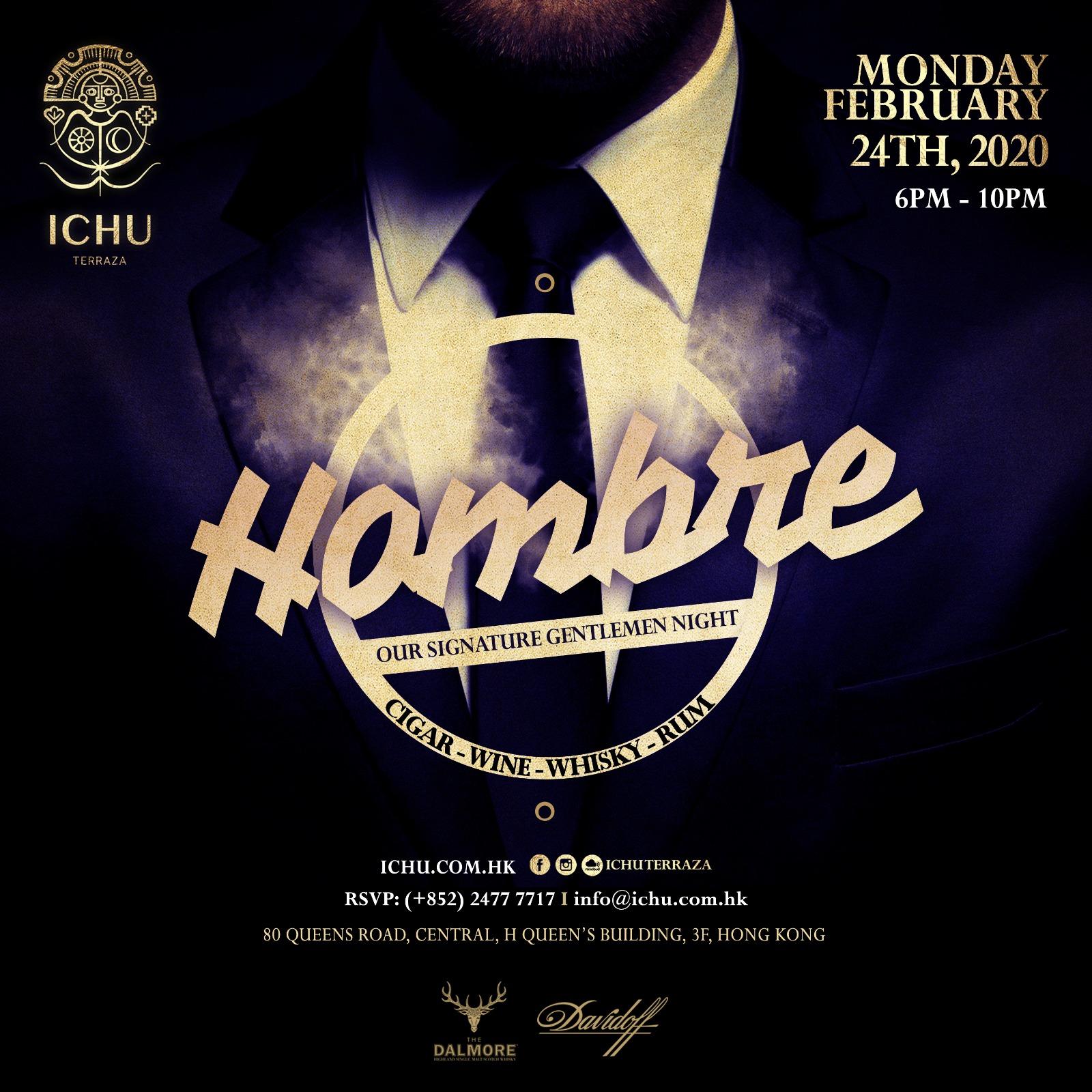 ICHU Restaurant & Bar | Events | Hombre