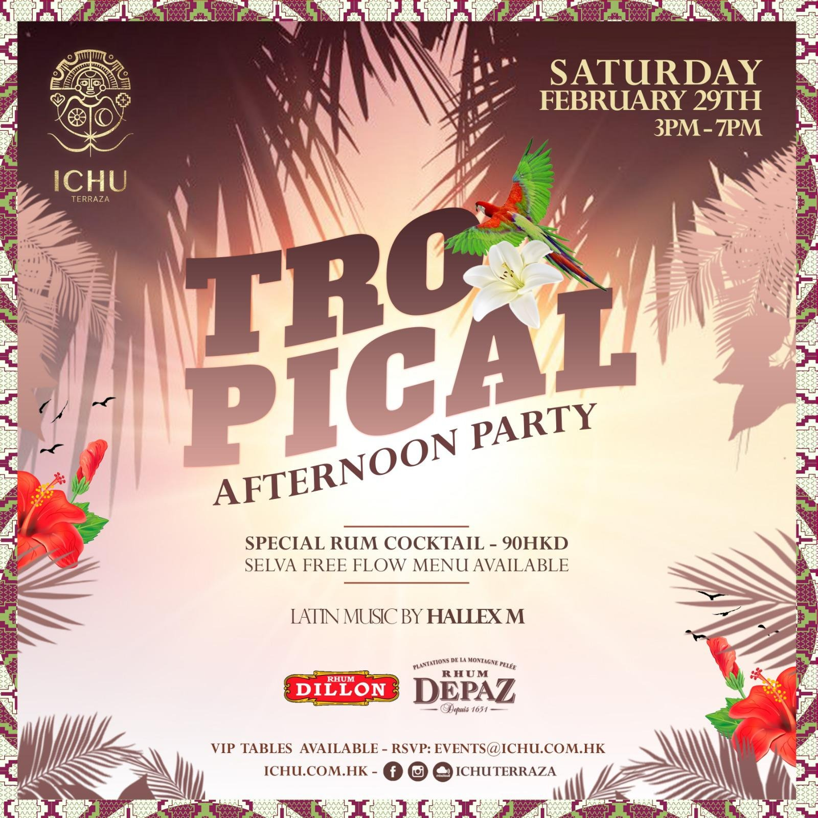 ICHU Restaurant & Bar | Events | TROPICAL AFTERNOON PARTY 4