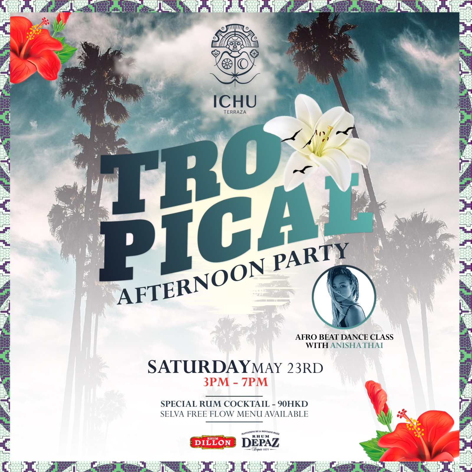 ICHU Restaurant & Bar | Events | TROPICAL AFTERNOON PARTY 5
