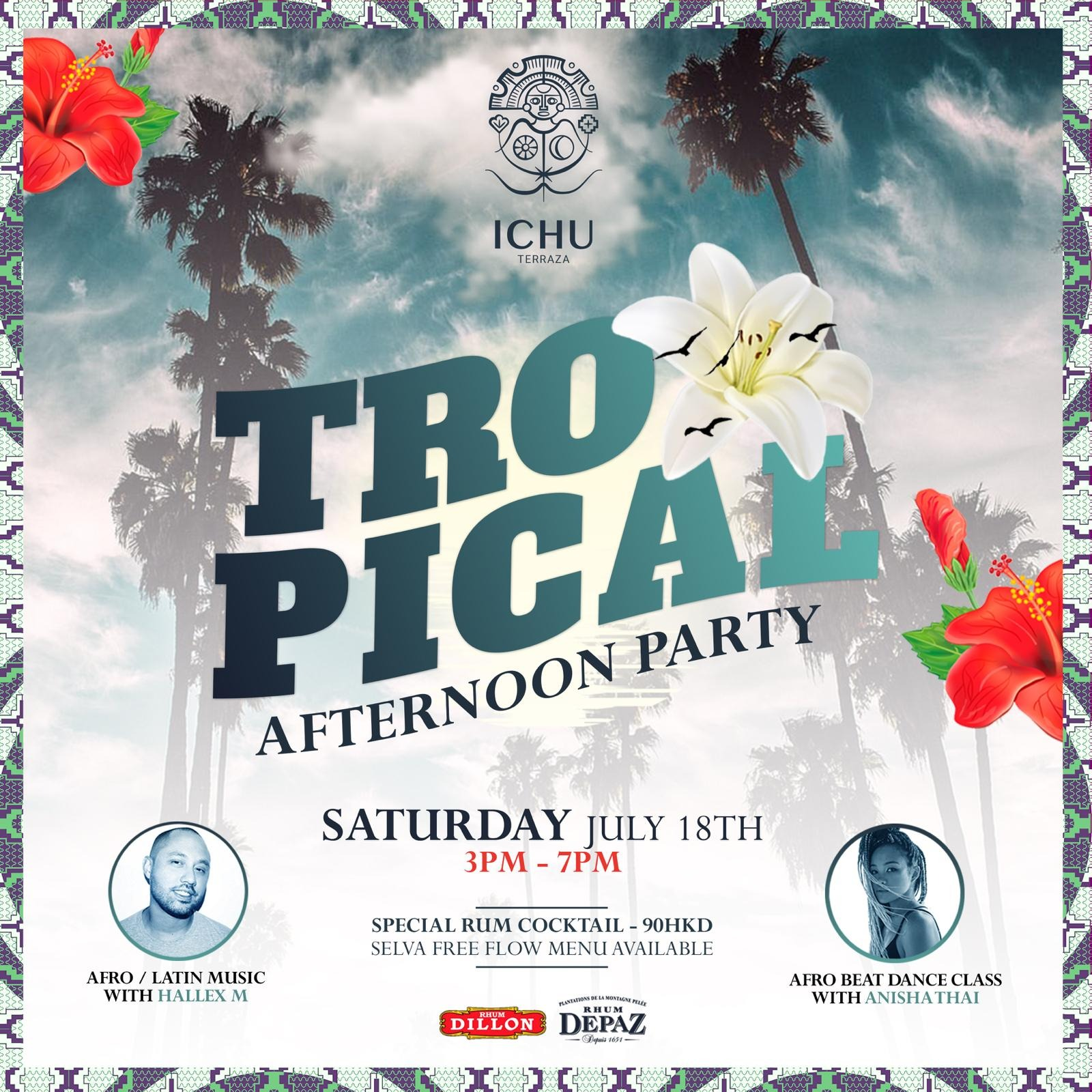 ICHU Restaurant & Bar | Events | TROPICAL AFTERNOON PARTY